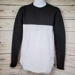 STRAIGHT FADED colorblock long sleeve shirt S